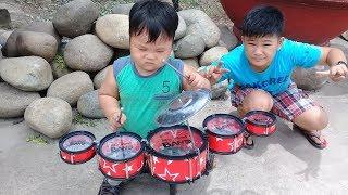 Đồ chơi trẻ em bé pin học đánh trống ❤ PinPin TV ❤ Baby toys learn drum