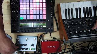 techno jam with push 2, subsequent 37, strymon timeline