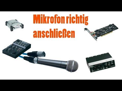 Mikrofon richtig Anschließen   lio.youtube   HD   Tontechnik Part 1