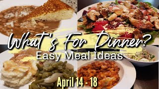 WHAT'S FOR DINNER? | APRIL 14-18 | EASY DINNER IDEAS | MANDY IN THE MAKING