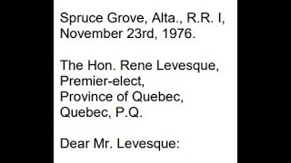 LC – E5: Letter to Renee Levesque