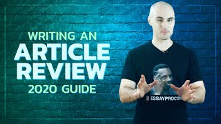 How to Write an Article Review | Example, Format, Dos and Don'ts [UPDATED] | EssayPro