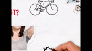 Summer Armpit Sweat Pads Whiteboard Style Product Video