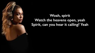 Beyonce   Spirit (Lyrics)