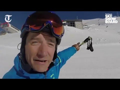 Graham Bell skis La Face run in Val d'Isère