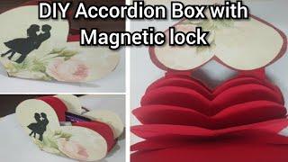DIY Reasons I love you,Valentine's Day,Birthday Gift ideas,Heart Accordion Box Album @Papersai arts