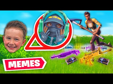 teaching a 7 YEAR OLD how to do memes...