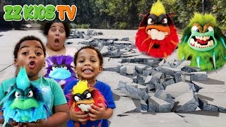 GRUMBLIES DESTROYED ZZ KID'S HOUSE!!!! (Wait is our floor Lava?)
