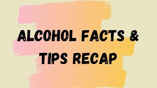 Alcohol Prevention Recap
