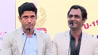 Farhan Akhtar & Nawazuddin Siddiqui At The Press Conference Of OORJA 2017 Football Tournament