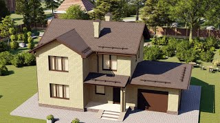 Проект дома 157-A, Площадь дома: 157 м2, Размер дома:  13,9x11,2 м