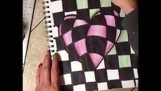 Bulging Hearts Op Art Lesson For Valentines Day!