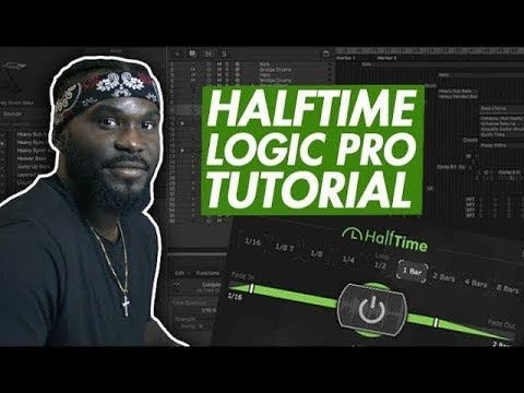Using Cableguys Halftime VST in Logic Pro For FIRE TRAP