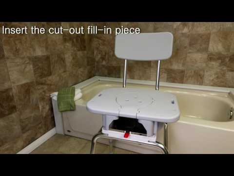 77663 Swivel Sliding Transfer Bench With Replaceable Cut Out Seat By ...