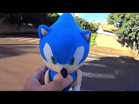 Sonic Plush   Passeando com o Sonic em Arapongas parte final