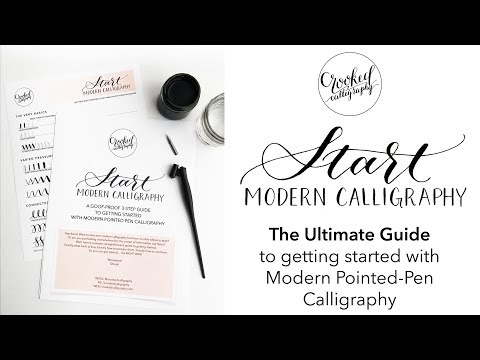 Start Modern Calligraphy - the ULTIMATE guide for beginners! | CROOKED CALLIGRAPHY