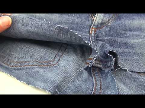 DIY jeans shorts deutsch - diy hotpants selber machen fashion kleidung upcycling