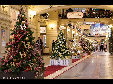 Фото видеогид شاهد، موسكو، روسيا، إحتفالات عيد الميلاد، رأس السنة ٢٠٢١