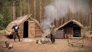 Bushcraft & Fishing - Catch & Cook Over The Fire At The Saxon Camp
