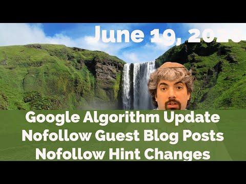 Atualização do algoritmo de 18 de junho no Google, Nofollow as postagens dos visitantes, alterações do Nofollow e muito mais 1