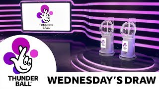The National Lottery 'Thunderball' draw results from Wednesday 20th March 2019