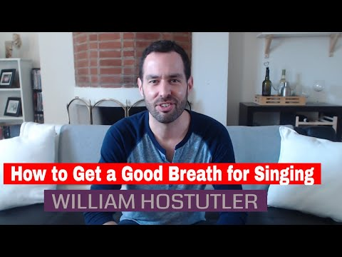 How to Get a Good Breath for Singing