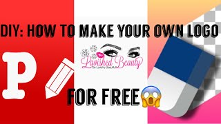 DIY: Making Your Own Logo For You Lipgloss Business🦄 | Starting A Lipgloss Business✨💕