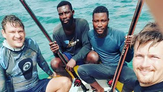 preview picture of video 'Spearfishing Cape three points , Ghana West Africa 2019'