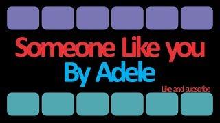Video Lirik Lagu Adele - Someone Like You (Terjemahan Bahasa Indonesia)