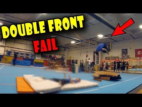 Fail pri DOUBLE FRONT FLIPE - Môj PARKOUR TRENING