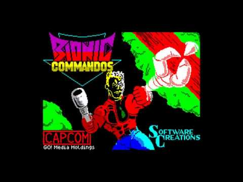 8Bit Comparisson: Bionic Commando for ZX Spectrum, Commodore 64 UK/USA and Amstrad CPC