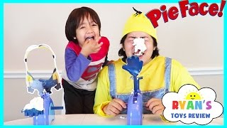 Despicable Me Minion Pie Face Challenge! Whipped Cream Family Fun Games for Kids Egg Surprise Toys