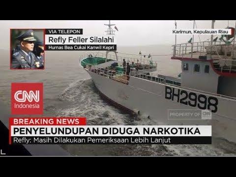 Breaking News! Lagi, Kapal Asing Bermuatan Narkoba Diamankan di Perairan Karimun