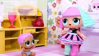 Куклы ЛОЛ Смешные Мультики 14 #Игрушки Сюрпризы LOL Видео для Детей с Лалалупси Вероника