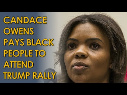 Candace Owens' BLEXIT PAYS Black people to attend phony Trump White House Rally
