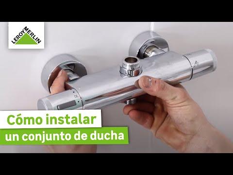 Cómo instalar un conjunto de ducha - LEROY MERLIN