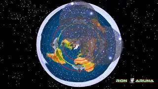 """Плоская Земля. КУПОЛ. Вращение звёзд в разных """"полушариях""""!"""