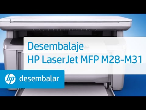 Cómo desembalar las impresoras multifuncionales HP LaserJet Pro M28-M31