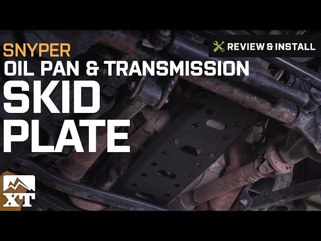 Snyper Oil Pan & Transmission Skid Plate (12-18 Jeep Wrangler JK)