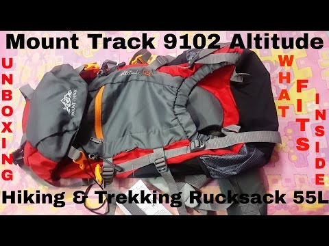 Mount Track 9102 Altitude,Hiking & Trekking Rucksack 55L UNBOXING||WHAT FITS INSIDE