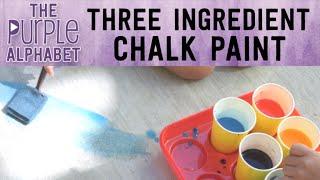 HOW TO MAKE Sidewalk Chalk Paint - EASY THREE INGREDIENTS
