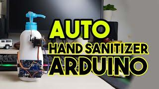 Hand Sanitizer Otomatis Dengan Arduino Infrared Dan Servo
