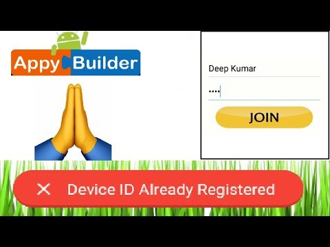 Device ID Already Registered | AIA File | Thunkable | Appybuilder |  Makeroid - Deep Host