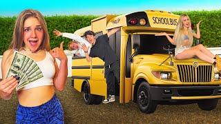 LAST TO LEAVE SCHOOL BUS WINS $20,000! 🍎 | Piper Rockelle