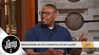 Paul Pierce congratulates Ray Allen on Hall of Fame induction | The Jump | ESPN