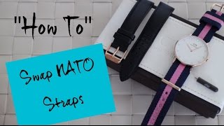 Swap Daniel Wellington NATO Straps - How to | Simply Esther