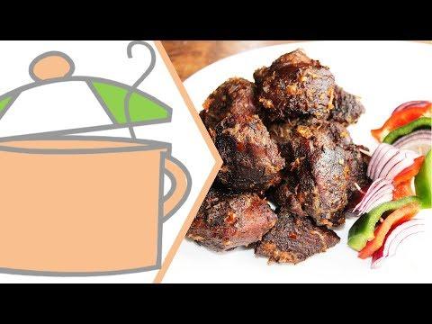 Nigerian Small Chops 3: Nigerian Asun (Peppered Goat Meat)   All Nigerian Recipes