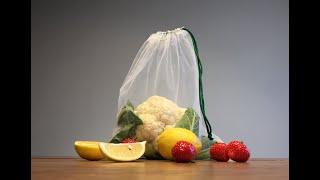 """Экомешочек многоразовый """"Goroh Bags"""", 1 шт. от компании VegansBy - магазин здорового питания - видео"""