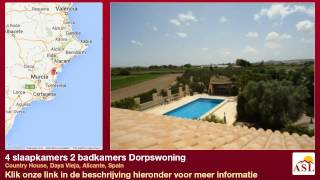 preview picture of video '4 slaapkamers 2 badkamers Dorpswoning te Koop in Country House, Daya Vieja, Alicante, Spain'