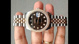 Hàng Khủng Rolex Datejust 36mm 116231 - 18k Solid Everose Gold feat Stainless Steel